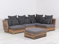 ROUGH-B Lounge hoek tuinset 5 delig - Kees Smit Tuinmeubelen - ROUGH Furniture