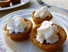 Pumpkin Pie Mini's, 1 points+ and delicious! #WeightWatchers