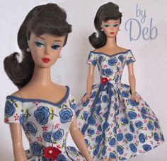 Parlez-moi d'amour- Vintage Reproduction Repro Barbie Doll Dress Clothes Fashion #Fanfare