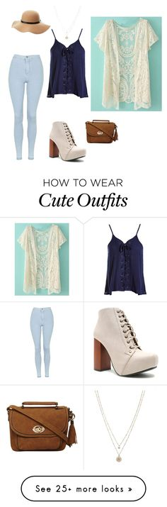 """Casual, yet cute bright spring outfit"" by kittykatie1017 on Polyvore featuring Sans Souci, Topshop, Qupid, Dorothy Perkins, Charlotte Russe and LC Lauren Conrad"