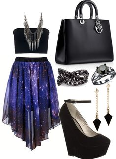 """Galaxy party style 3"" by ami-grewal ❤ liked on Polyvore"