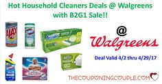 There are some hot deals on Household Cleaners going on thru 4/29 @ Walgreens that you don't want to miss!! We have created a list of several breakdowns for you to make the best of this deal.   Click the link below to get all of the details ► http://www.thecouponingcouple.com/household-cleaners-deals-walgreens/ #Coupons #Couponing #CouponCommunity  Visit us at http://www.thecouponingcouple.com for more great posts!
