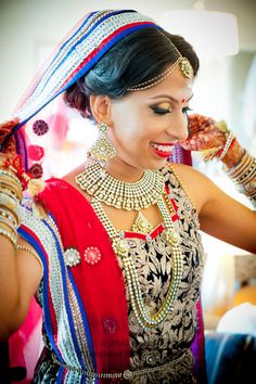 Indian Bridal Hair And Makeup By Caitlyn Meyer Baltimore Maryland South Asian Bride