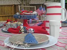 The Style Sisters: 4th of July decorations