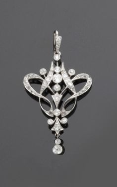 """Now, THAT's what I'm talkin' `bout!!   BABY!!! THat is one pretty prendant. Art Nouveau diamond pendant"