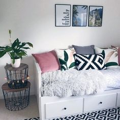 Shop for Furniture, Home Accessories & Teen Room Decor, Room Ideas Bedroom, Small Room Bedroom, Home Bedroom, Bedroom Decor, Small Rooms, Spare Room, Small Spaces, Daybed Room