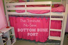 Créer une petite cabane dans un lit superposée en 5 minutes !