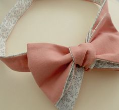 """Coral Bowtie with vintage floral reverse! <a href=""""https://www.etsy.com/listing/111853246/coral-bowtie-with-vintage-floral-reverse"""" rel=""""nofollow"""" target=""""_blank"""">www.etsy.com/...</a>"""