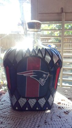 New England Patriots Football Crown Royal Hand by PattiesPassion