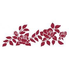 stencil bordura rose