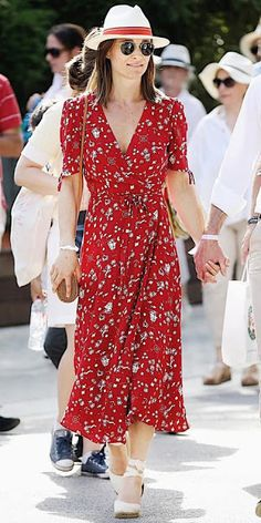 Classy Outfits, Chic Outfits, Summer Outfits, Summer Dresses, Inspired Outfits, Pippa Middleton Dress, Pippa Dress, Wedges Outfit, Boho Outfits