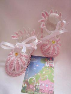 Crochet Baby Girl Gerbera booties Crochet baby girl by MILAVIKIDS, $24.99