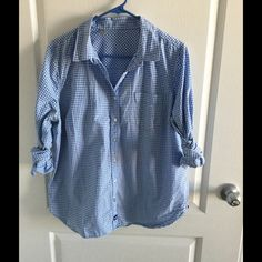 Women's Shirt xl by JCP plaid Great condition.like brand new.worn twice.NOT jcrew but similar style J. Crew Tops