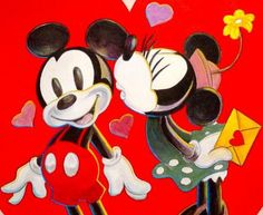 Minnie gives Mickey a little kiss on the cheek Mickey And Minnie Love, Mickey Mouse And Friends, Disney Mickey, Disney Art, Minnie Mouse, Epic Mickey, Walt Disney, Disney Valentines, Happy Valentines Day
