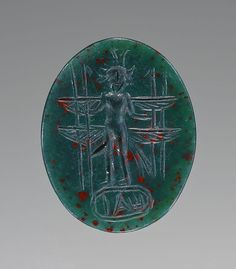 Unknown, One of Ninety Engraved, Gems, Cameos and Bullae, Roman, 2nd - 4th century, Bloodstone - See more at: http://search.getty.edu/gateway/search?q=&cat=type&types=%22Jewelry%22&rows=50&srt=&dir=s&dsp=0&img=0&pg=12#sthash.QfyKzHsX.dpuf