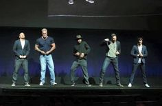 The boys take to the stage at CinemaCon to promote MMXXL. (April 2015) Oh boy, I cant wait to see this movie x
