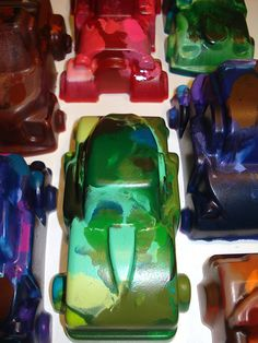 Crayon Cars! What a cute gift idea for party bags!