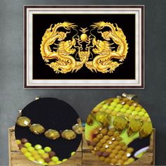 Golden Dragon Round Diamond Painting Handicraft 5D Special Shaped Diamond Cross Stich 3D DIY Mosaic Diamond Wall Painting