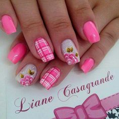Pink, plaid, flowers