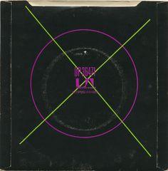Buzzcocks – Promises / Lipstick (back cover). By Malcolm Garrett.