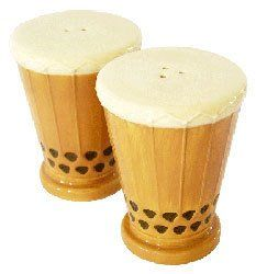 Hawaiian Salt & Pepper Ceramic Shakers Drum Set by KC. $12.49. Hawaiian Home Accessories add a beautiful and warm tropical touch to your home or office!. Hawaiian Salt and Pepper Ceramic Shakers - Two piece set. Island style decor for your kitchen. Item #60024 KC