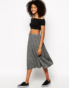 Get this Monki's knee skirt now! Click for more details. Worldwide shipping. Monki A Line Midi Skirt - White: Midi skirt by Monki, 100% Viscose, Stretch high-rise waist, A-line shape, Raw edge finish, Regular fit - true to size, Our model wears a UK 8/EU 36/US 4 and is 173cm/5'8 tall, Machine wash. If you�re all for personality and expression then Monki are the ones for you. Known for their street-style-meets-Scandi-chic design and super-fun story-based store concepts, Monki grab bold…