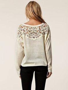 Fabia Sweater – Jeane Blush – Offwhite – Gensere – Klær – …  | sheself