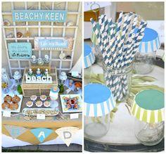 "Photo 3 of Beach Party / Summer ""Beachy Kneen"" Summer Birthday, 50th Birthday Party, Mom Birthday, Birthday Ideas, Mermaid Party Decorations, Summer Beach Party, Sweet 16 Parties, Anniversary Parties, 25th Anniversary"