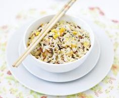 Nelba Rice - Bacon eggs carrots and onion with rice. Asian Recipes, Healthy Recipes, Pasta, Grain Foods, Bacon Egg, Rice Dishes, Onion, Nom Nom, Carrots