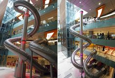 Yes, it is a slide. Changi Airport, Singapore