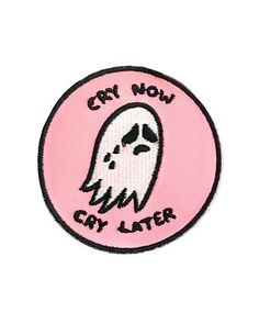 Cry Now, Cry Later Patch - Pink