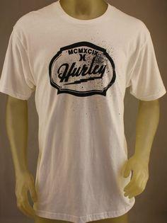 Hurley Regular Fit white T-Shirt with black logo