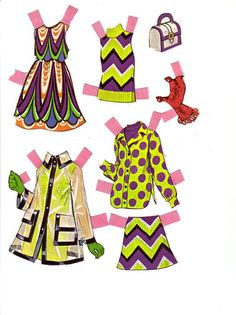 twiggy - paper doll clothes
