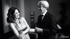 'The Newsroom': Exclusive Photos of Aaron Sorkin and the HBO Cast: Emily Mortimer and Sam Waterston