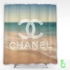 Chanel beach bokeh Shower Curtain