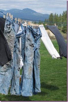 jeans -love those old wrecked jeans