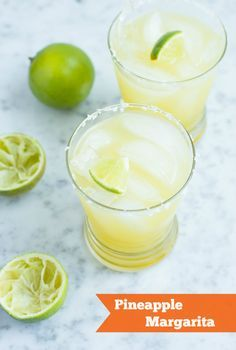 Pineapple Margarita: Jose Cuervo gets chummy with his pal pineapple and lime for a sweet and tangy pineapple margarita.