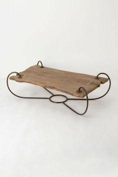 Cool coffee table (wood, metal)