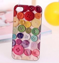 Colorful Buttons Protective Back Case for iPhone 4 and 4s - Apple Accessories - Funny Gadgets Free shipping