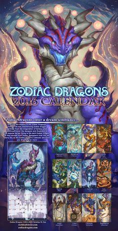 2016 Zodiac Dragons Calendar by The-SixthLeafClover.deviantart.com on @DeviantArt