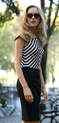 The Classy Cubicle: Jailbreak. {bradamant black and white body suit, work wear, office fashion}