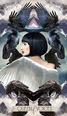Muse Tarot Meanings Queen of Voices – The Muse Tarot // Chris-Anne // Tarot Cards and Poetry Celtic Cross Tarot, Free Tarot, Tarot Card Meanings, Tarot Spreads, Oracle Cards, Tarot Decks, Deck Of Cards, Card Deck, The Magicians