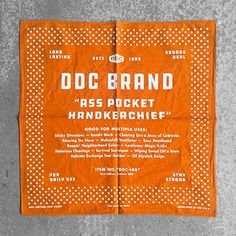 Draplin Design Co. Vintage Graphic Design, Graphic Design Posters, Draplin Design, Pocket Handkerchief, Bandana Design, Type Setting, Printed Shirts, Typography, Handkerchiefs