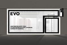 Evo identity designed by Saffron.