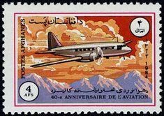 Stamp: Ilyushin IL-12 (Afghanistan) (40th anniv of National Aviation) Mi:AF 1354,Sn:AF 1091,Yt:AF 1176 #colnect #collection #stamps