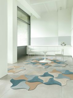 Self-adhesive Tiles BLOOM SCALE #Living Collection by Vorwerk #rug #carpet