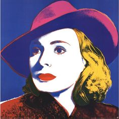Andy Warhol, Ingrid With Hat (Lg), Offset Lithograph, 1990