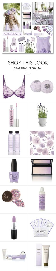 """""""Lavender dreams"""" by crochetnecklaces ❤ liked on Polyvore featuring beauty, Urban Decay, Potting Shed Creations, Shimera, Graham & Brown, OPI, Kevyn Aucoin, SheaMoisture, MAC Cosmetics and Florapy"""