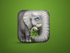 just for fun:)   maybe some day made an app for elephants :)   looks little sad ?