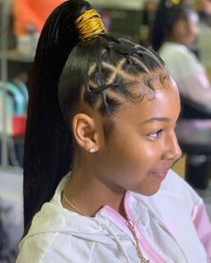 Posts Hair Ponytail Styles, Black Girl Braided Hairstyles, Sleek Ponytail, Fringe Hairstyles, Baddie Hairstyles, Bouffant Hairstyles, Retro Hairstyles, Party Hairstyles, Long Hairstyles